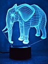 elephant tactile gradation 3d led nuit lumiere 7colorful decoration atmosphere lampe nouveaute eclairage lumiere