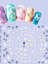 1pcs Fashion Colorful DIY Beauty Beautiful Butterfly Nail Art 3D Stickers Romantic Butterfly Decoration F178