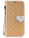 For Nokia 6 Case Cover The New Grid Pattern Pattern Love Buckle PU Material Hit Color Phone Case