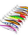 10 pcs Hard Bait Minnow Fishing Lures Lure Packs Minnow Hard Bait Hard Plastic Plastic Sea Fishing Bait Casting Spinning Freshwater