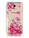 Coque Pour Samsung Galaxy J7 Prime IMD Transparente Motif Coque Arriere Fleur Flexible TPU pour J7 (2016) J7 Prime J7 J5 (2016) J5 J3 J3