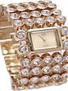 여성용 패션 시계 팔찌 시계 석영 합금 밴드 실버 골드