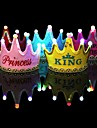 1Pcs Luminous Led Cap Princess Happy Birthday Party Decorations Crown Led Kids Birthday Cap Hat Festival Decorations Ramdon Color