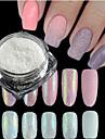 1 bouteille nouvelle mode douceur style candy couleurs ongle art diese glitter sucre poudre de peinture holographique pigment manucure