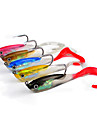 "5 pcs Soft Bait Jigs Others Fishing Lures Soft Bait Jigs Jig Head Shad Assorted Colors g/Ounce,100 mm/4"" inch,Soft Plastic Lead Silicon"