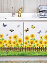 Мода Цветы ботанический Наклейки Простые наклейки Декоративные наклейки на стены Линейка роста, Бумага Украшение дома Наклейка на стену