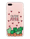 Para a tampa do caso ultra fino teste padrao tampa traseira cartoon soft tpu para iphone 7 mais 7 6s mais 6 mais 6s se 5s 5