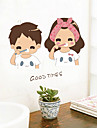 Cartoon Romance People Wall Stickers Plane Wall Stickers Decorative Wall Stickers,Paper Material Home Decoration Wall Decal