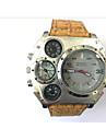 JUBAOLI Муж. Спортивные часы Армейские часы Уникальный творческий часы Кварцевый Календарь С двумя часовыми поясами Кожа Группа Cool
