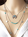 Women\'s Layered Necklaces Moon Alloy Fashion Bohemian Euramerican Costume Jewelry Jewelry For Party Daily