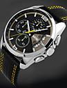 SKMEI® Men's Fashion Sport Racing Design Leather Quartz Chrono Watch Cool Watch Unique Watch