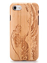 For Apple iPhone 7 7Plus Embossed Pattern Case Back Cover Case Wood Grain Cartoon Hard Solid Wood  6s Plus 6 Plus  6s 6