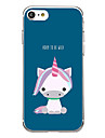 용 케이스 커버 울트라 씬 패턴 뒷면 커버 케이스 유니콘 소프트 TPU 용 Apple 아이폰 7 플러스 아이폰 (7) iPhone 6s Plus iPhone 6 Plus iPhone 6s 아이폰 6 iPhone SE/5s iPhone 5