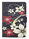 Case For Apple iPad Mini 4 iPad Mini 3/2/1 Card Holder Wallet with Stand Flip Magnetic Pattern Full Body Cases Flower Hard PU Leather for