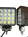 Ziqiao 1шт 4 inch 48w led свет работы для индикаторов motorcycle driving offroad boat truck tractor truck 4x4 suv atv flood 12v 24v