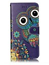 For iPhone X iPhone 8 Case Cover Wallet Card Holder Embossed Pattern Full Body Case Owl Hard PU Leather for Apple iPhone X iPhone 8 Plus