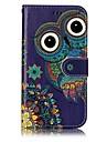 Capinha Para Samsung Galaxy A5(2017) A3(2017) Carteira Porta-Cartao Com Suporte Flip Com Relevo Estampada Magnetica Corpo Inteiro Corujas