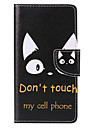 Case For Huawei P9 Huawei P9 Lite Huawei P8 Huawei Huawei P8 Lite Card Holder Wallet with Stand Flip Pattern Full Body Cases Cat Hard PU