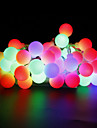 W 스트링 조명 lm AC220 AC 110-130 10 m 100 LED가 웜 화이트 화이트 레드 옐로 블루 핑크 멀티 색상