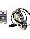 BRELONG  USB 5050 RGB Strip Lights 5V TV Background 1M 30 Leds with 17Key Controller