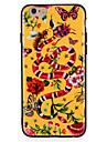 애플 iphone7에 대 한 경우 플러스 꽃 나비 동물 패턴 하드 pc 아이폰 6s 플러스 6 플러스 6s 6