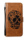 For iPhone 7Plus 7 Phone Case PU Leather Material Skull Pattern Embossed Phone Case 6s Plus 6Plus 6S 6 SE 5s 5