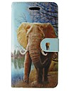 For Samsung Galaxy A5 2017 A3 2017 Case Cover Animal Elephant Body Cover with Card and Booth A3 2016 A5 2016 A3 A5