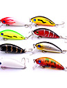 "8 pcs Hard Bait Crank Lure Packs g / Ounce mm / 2-1/8"" inch Sea Fishing Bait Casting Spinning Freshwater Fishing Bass Fishing Lure Fishing"