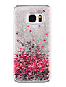 Case For Samsung Galaxy S8 Plus / S8 Flowing Liquid / Transparent / Pattern Back Cover Heart / Glitter Shine Hard PC for S8 Plus / S8 / S7 edge