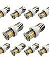10pcs E10 7SMD 2835 for Car Door Lamp  Reading Light  Warm White / White (DC12V)