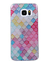 For Samsung Galaxy S8 S8 Plus Case Cove Lattice Pattern Flash Powder IMD Process TPU Material Phone Case S7 S6 Edge