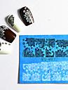 48 pcs Мода Наклейка для переноса воды / Наклейка кружева Повседневные