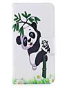 Pour iPhone X iPhone 8 Etuis coque Porte Carte Portefeuille Avec Support Clapet Motif Coque Integrale Coque Panda Dur Cuir PU pour Apple