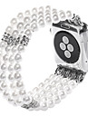 Jade Agate Pearl Beads Strap Handmade Jewelry for Apple Watch 3 iWatch 38mm 42mm