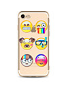 Case for iPhone 7 Plus 7 Cover Transparent Pattern Back Cover Case Cartoon Expression Soft TPU for Apple iPhone 6s plus 6 Plus 6s 6 SE 5s 5c 5 4s 4