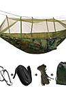 Rede para Acampamento com Tela Mosqueteira Cadeado Abracadeiras Bolsas para Cordas A Prova de Humidade Bem Ventilado Elastico Retangular