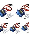 5x Pcs SG90 Micro Servo Motor 9G RC Robot Helicopter Airplane Boat Controls