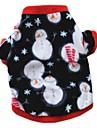 Кошка Собака Плащи Футболка Толстовка Одежда для собак Для вечеринки На каждый день Сохраняет тепло В снежинку Белый Темно-синий