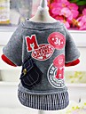 Dog Coat Sweatshirt Dog Clothes Casual/Daily Fashion Letter & Number Gray Red
