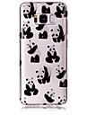 Estojo para samsung galaxy s8 s8 mais capa capa panda padrao alto transparente material tpu imd artesanato telefone chiffon s6 s6 edge s7
