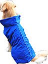Dog Vest Dog Clothes Waterproof Solid Orange Yellow Fuchsia Red Blue