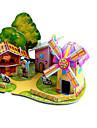 Puzzles 3D Puzzle Moulin a vent Avion Moulin a vent Batiment Celebre Maison A Faire Soi-Meme Papier cartonne Classique Anime Dessin Anime