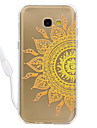 Case For Samsung Galaxy A5(2017) A3 (2017) Mandala Pattern Acrylic Backplane and TPU Edge Materia Neck Lanyard A510 A310