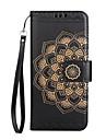 Coque Pour LG K8 LG LG K10 Porte Carte Portefeuille Clapet Motif Relief Coque Integrale Mandala Fleur Dur faux cuir pour LG K10 (2017) LG