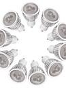 3W 260-300 lm GU10 Lampadas de Foco de LED MR16 3 leds LED de Alta Potencia Regulavel Branco Quente Branco AC 220-240V