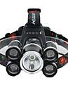 Lampes Frontales Sangle de Lampe Frontale Eclairage securite velo / Ecarteur de danger LED 3000 Lumens 1 Mode Cree XM-L T6 Batteries non