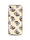 Case For Apple iPhone X / iPhone 8 Plus Transparent / Pattern Back Cover Tile / Animal / Cartoon Soft TPU for iPhone X / iPhone 8 Plus / iPhone 8
