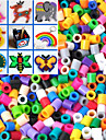 Approx 1000PCS/Bag 5MM Mixed Color Fuse Beads Hama Beads DIY Jigsaw EVA Material Safty for Kids