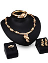 Femme Ensemble de bijoux - Strass, Plaque or Personnalise, Mode Comprendre Pendentif de collier Or Pour Soiree Rendez-vous