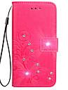huawei p10 플러스 p10 케이스 카드 지갑 지갑 rhinestonwith 스탠드 플립 양각 된 전신 케이스 꽃 하드 pu 가죽에 대한 케이스 화웨이 p10 라이트